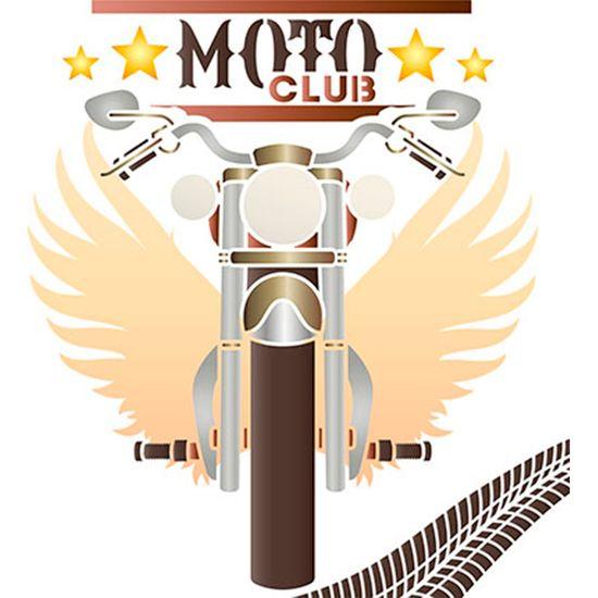 Tudo sobre 'Stencil Litoarte 25x25 STXXV-040 Moto Club'