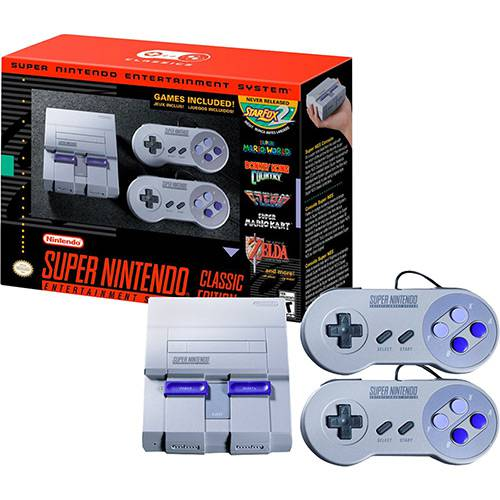 Tudo sobre 'Console Super Nintendo Classic Edition + 2 Controles + 21 Jogos (Digitais)'