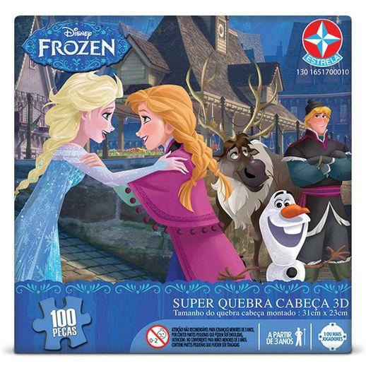 Tudo sobre 'Super Quebra Cabeça 3D Frozen - Estrela'