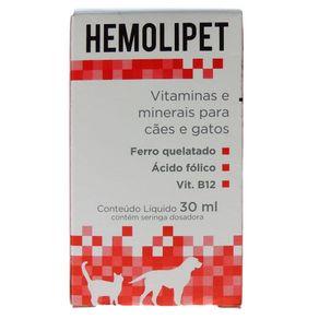 Suplemento Hemolipet para Cães e Gatos - 30ml