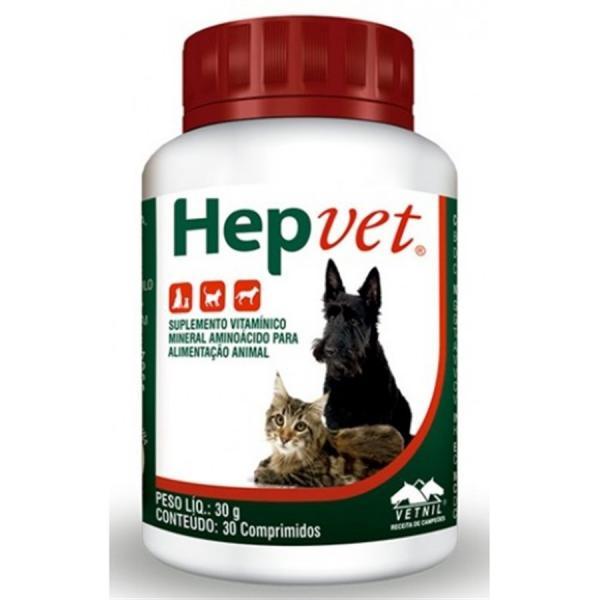 Suplemento Hepvet 30 Comprimidos - Vetnil