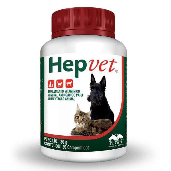 Suplemento Hepvet para Cães Vetnil 30 Comprimidos