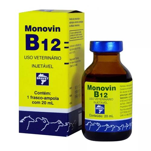 Suplemento Injetável Bravet Monovin B12 para Bovinos 20ml