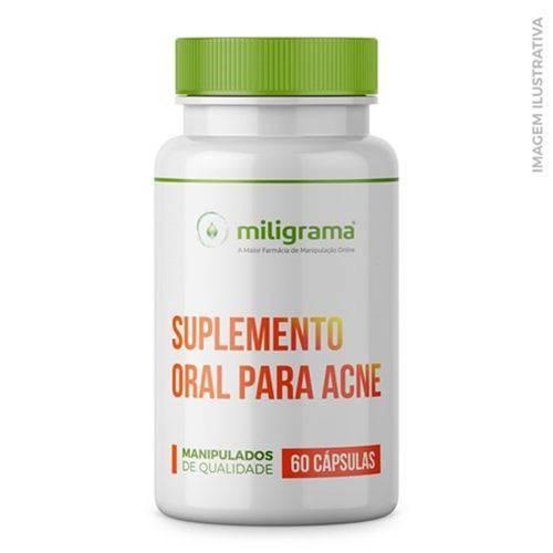 Tudo sobre 'Suplemento Oral para Acne 60 Cápsulas'