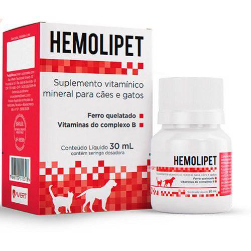 Suplemento para Cães e Gatos Hemolipet 30ml - Avert