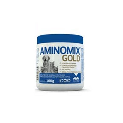 Suplemento Vetnil Aminomix Gold para Cães, para Gatos e Mustelídeos 100g