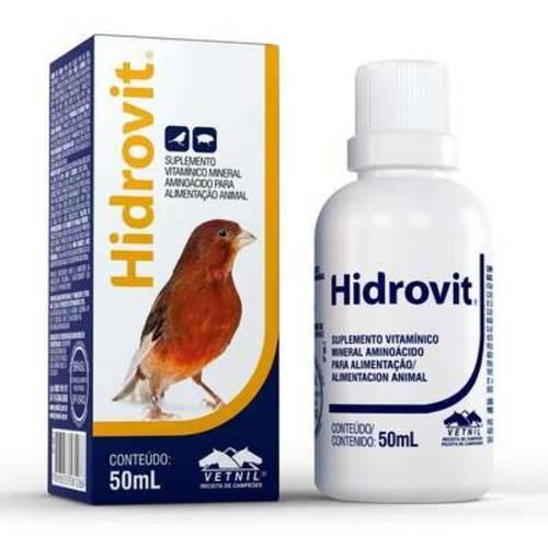 Suplemento Vetnil Hidrovit 50 Ml Pra Aves e Suínos