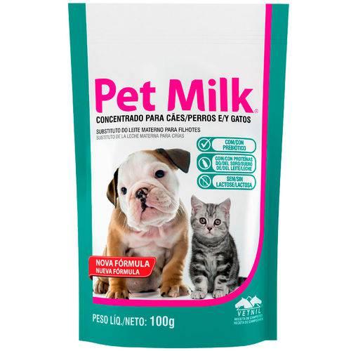 Suplemento Vetnil Substituto do Leite Materno Pet Milk 100g