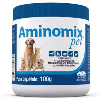 Suplemento Vitamínico Aminomix Pet em Pó - 100g - Vetnil