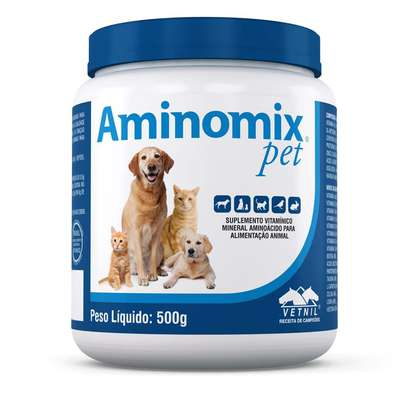 Suplemento Vitamínico Aminomix Pet em Pó - 500g - Vetnil