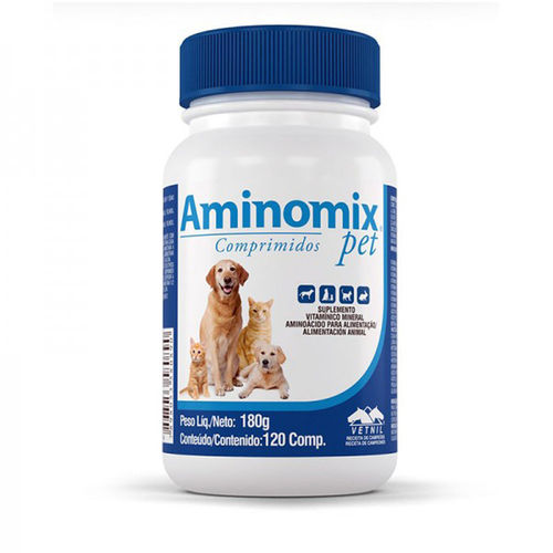 Suplemento Vitamínico Vetnil Aminomix Pet com 120