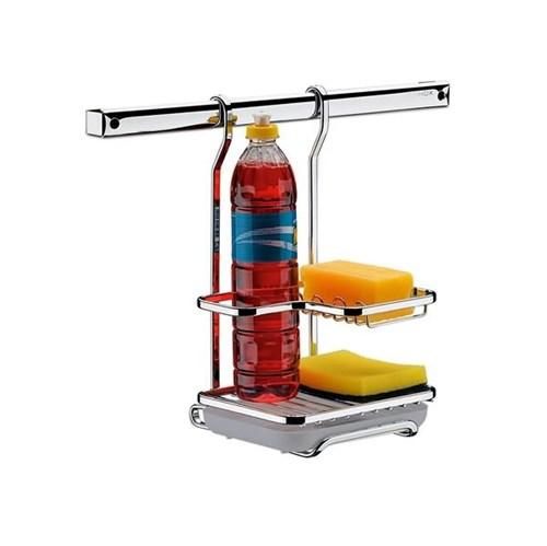 Suporte para Detergente e Esponja Metal Prata Brinox