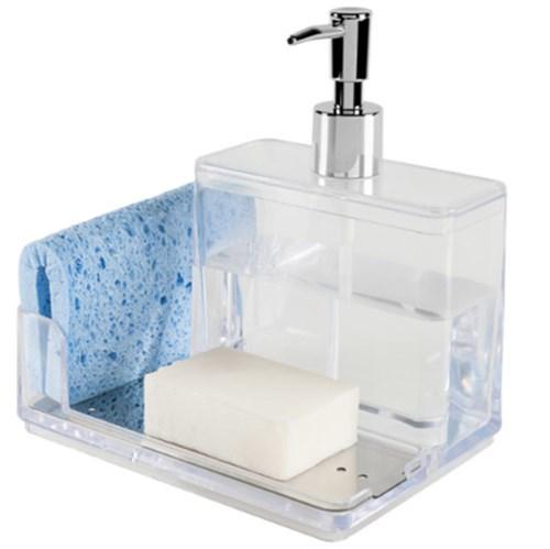 Suporte para Detergente e Esponja Plástico Incolor Suprema
