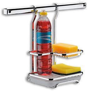 Suporte para Sabão Detergente e Esponja Piatina Plus em Aço Cromado - Brinox