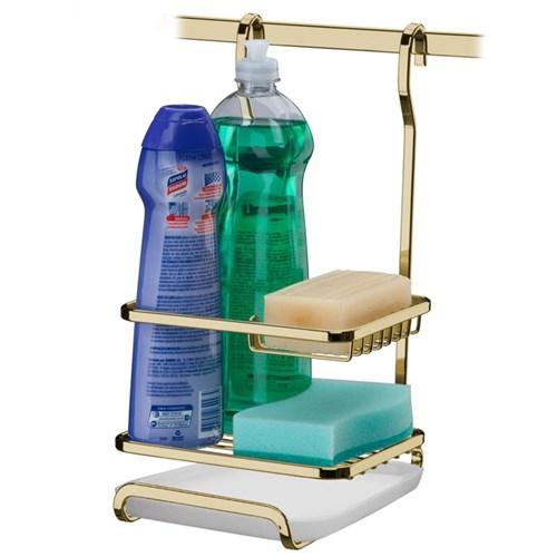 Suporte para Sabão Detergente Esponja Dourado Future