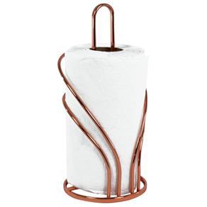 Suporte Rolo Papel Toalha Decorativo Organizador - Cobre - Laranja
