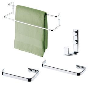 Suportes Organizadores Banheiro Kit 4 Peças -