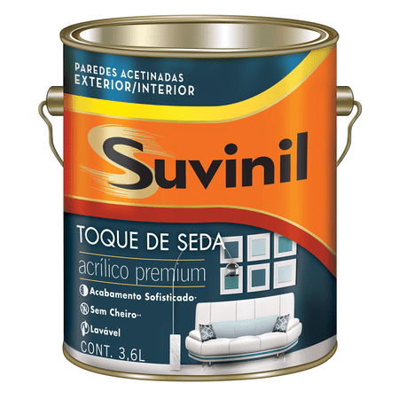 Suvinil Acrílico Toque de Seda Premium 3,6 Litros Branco
