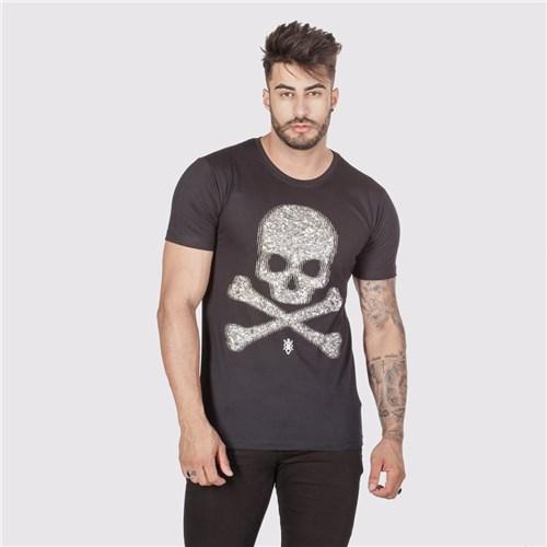 T-Shirt Bright Skull Preta (P)