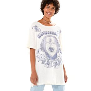 T-Shirt Desfibrada Silk Off White - M