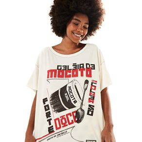 T-Shirt Fraldada Silk Off White - M