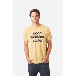 T Shirt Good Weather Sucks Camelo - GG