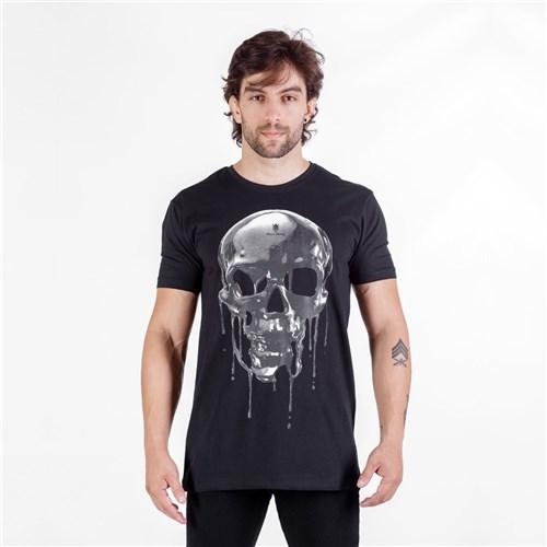 T-Shirt Melting Skull Preta (P)