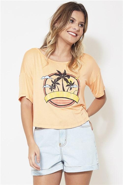 T-Shirt Palm Springs - Coral Tamanho: P