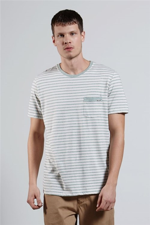T-shirt Recycle Stripe Verde G