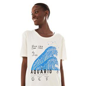 T-Shirt Silk Aquario Off White - M