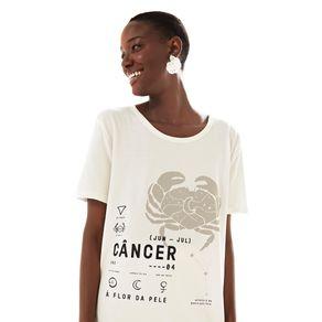 T-Shirt Silk Cancer Off White - M