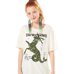 T-Shirt Silk Capricórnio Off White - M
