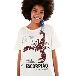 T-Shirt Silk Escorpião Off White - G