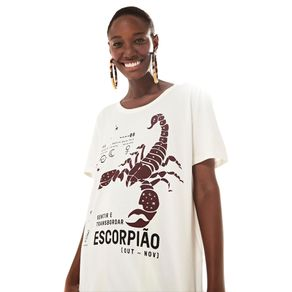T-Shirt Silk Escorpiao Off White - G