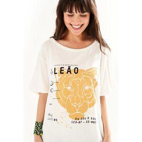 T-Shirt Silk Leão Off White - M