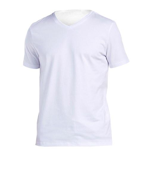 T-Shirt Slim Gola V Branca / G