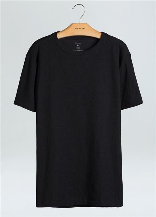 T-Shirt Soft Linen-Preto - P