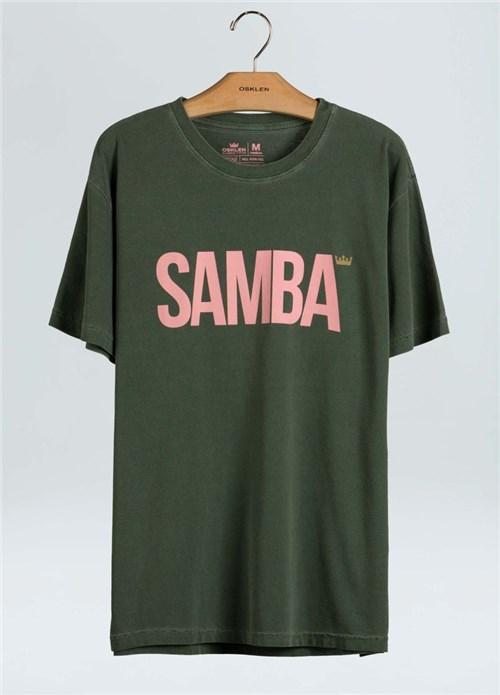 T-Shirt Stone Samba-Verde Musgo - P