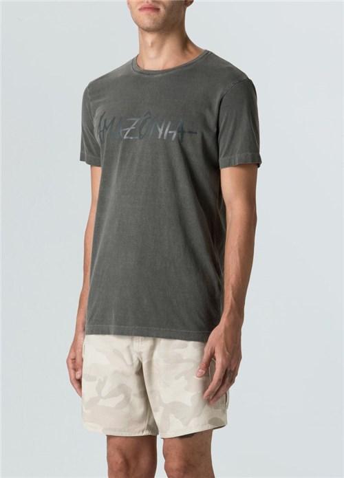 T-Shirt Stone Vintage Amazônia T-Shirt Stone Vintage Amazonia-Militar - G