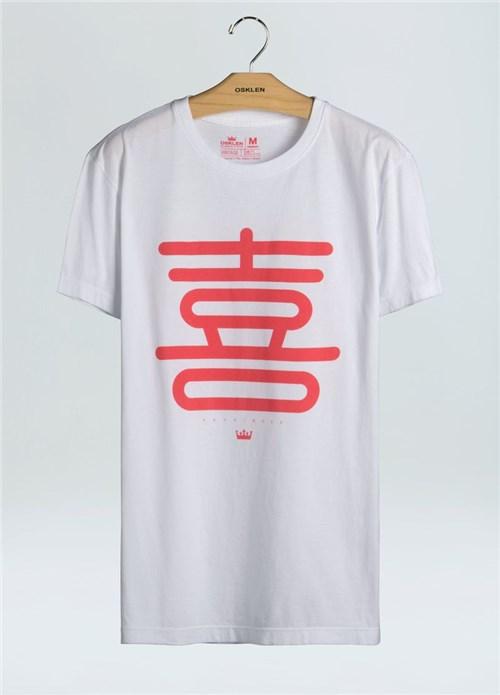 T-Shirt Stone Vintage Happiness-Branco - GG