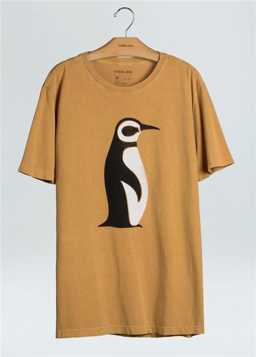 T-Shirt Stone Vintage Pinguim-Mostarda - P