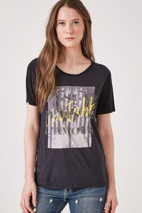 T-Shirt Veritable Preto Est Silk Veritable Preto - P