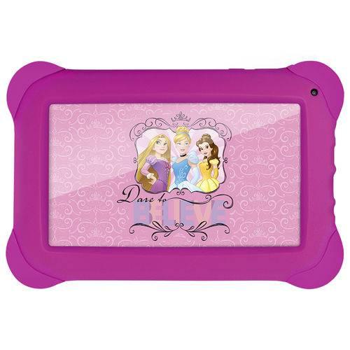 Tablet Disney Princesas - 7 Polegadas - Wifi - 8GB Memória Interna Quad Core Rosa NB239 Multikids