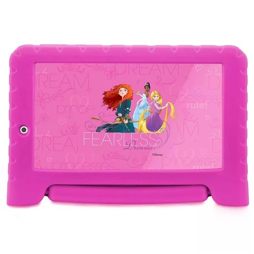 Tablet Disney Princesas Plus Wifi 8Gb Dual Câmera Android 7 Pol Rosa M
