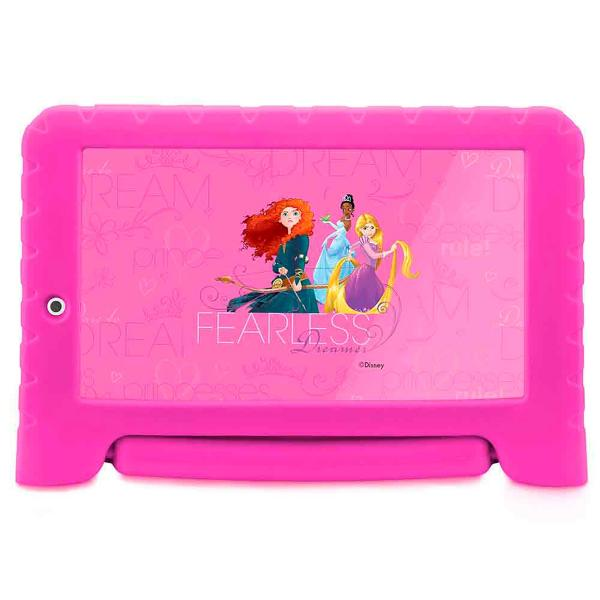 Tablet Disney Princesas Plus Wifi 8Gb Dual Câmera Android 7 Rosa - NB281 - Multilaser