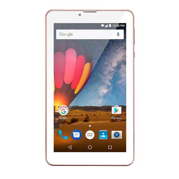 Tablet M7 3G Plus Quad Core 1Gb Ram Câmera Tela 7 Memoria 8Gb Dual Chip Rosa NB271 - Multilaser