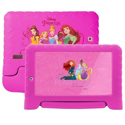 Tablet Multilaser Disney Princesas 8Gb Wifi 7'' Rosa - Nb281