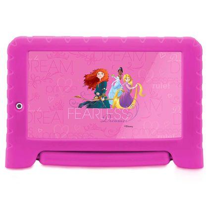Tablet Multilaser Disney Princesas Plus Wifi 8Gb Dual Câmera Android 7 Rosa - NB281 NB281