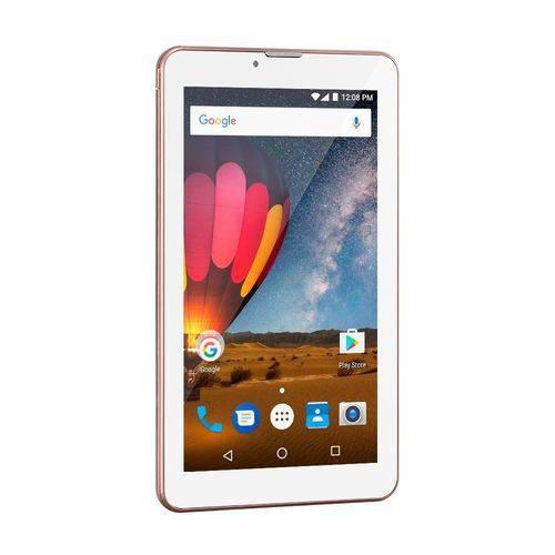Tablet Multilaser M7 3g Plus Quad Core 1gb Ram Camera Tela 7 Memoria 8gb Dual Chip Rose