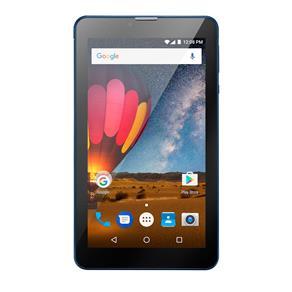 Tablet Multilaser M7 3G Plus Quad Core 1GB RAM Camera Wi-Fi Tela 7 Memoria 8GB Dual Chip Azul - NB270